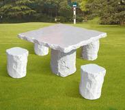 白色花岗岩桌椅套装gcf502