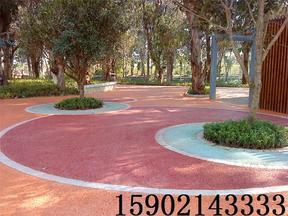 青岛透水混凝土施工 青岛彩色防滑坡道材料