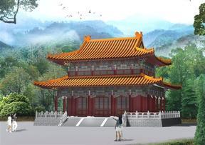 寺庙规划设计图·古建寺庙效果图