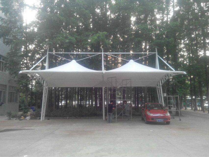供应别墅庭院膜结构停车棚