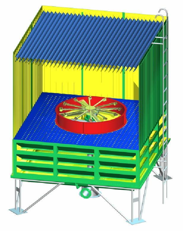火电厂冷却塔内部结构图片