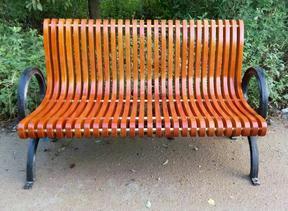 广州易居供应实木公园休闲椅路边休息椅小区休息椅