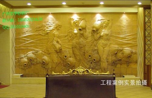 大型浮雕背景墙订做/砂岩浮雕壁画安装方法/浮雕壁画