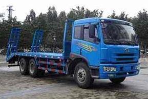 解放后八轮平板车30吨挖机运输车挖机拖车平板拖车