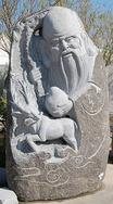 花岗岩神明雕像GGP199
