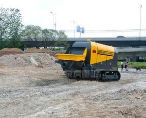 云南祖得煤矿主油泵给主缸供油的细石混凝土泵