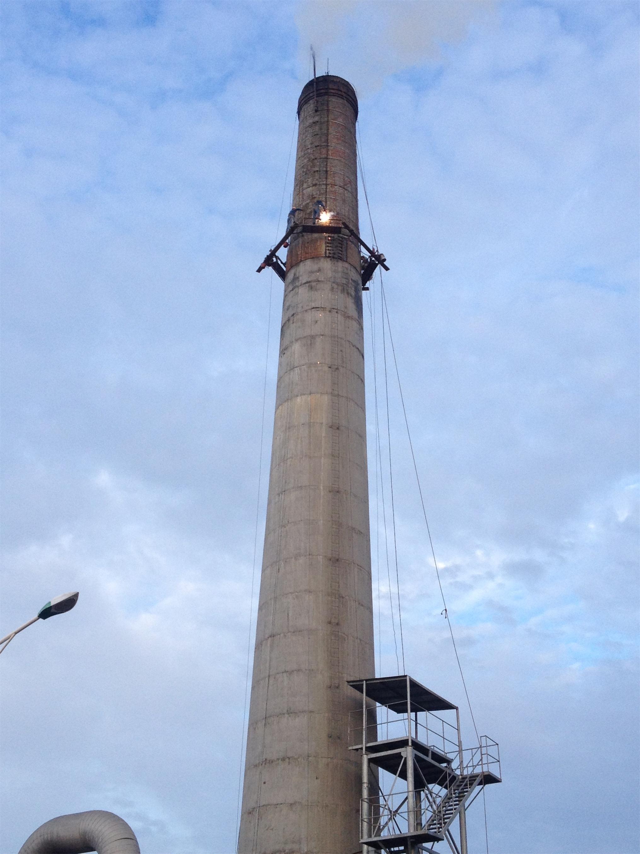烟囱内衬耐酸砖的具体施工流程