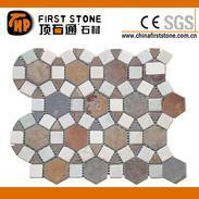 板岩马赛克圆形拼图FSMT-S083