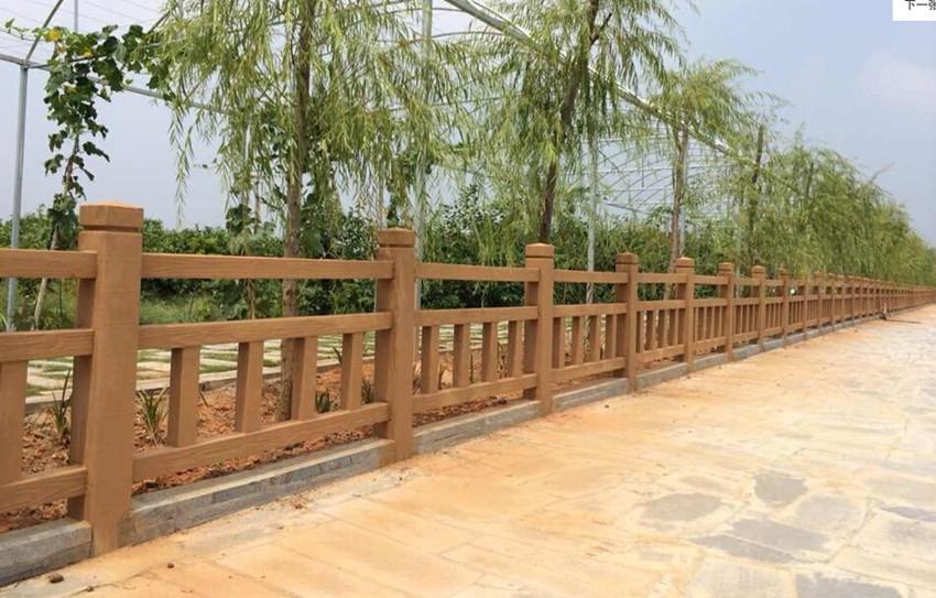 四川宏升公园景区水泥仿木栏杆