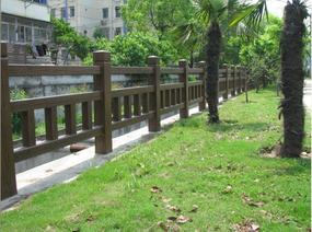 四川宏升景观园林仿木仿树皮栏杆