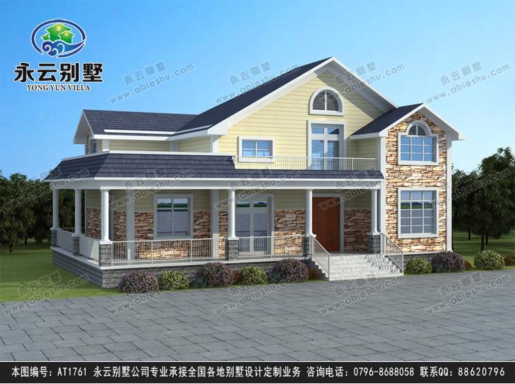 南昌别墅设计at1761一层半带走廊复式客厅小别墅图片