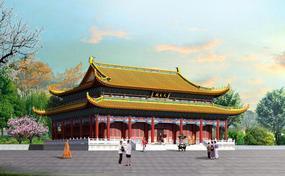 寺庙效果图设计图