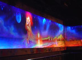 酒吧KTV荧光壁画
