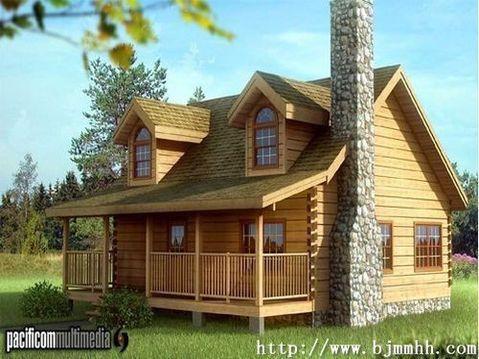 北方木屋别墅图片