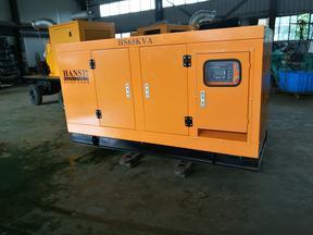 50KW移动式静音三相柴油发电机组