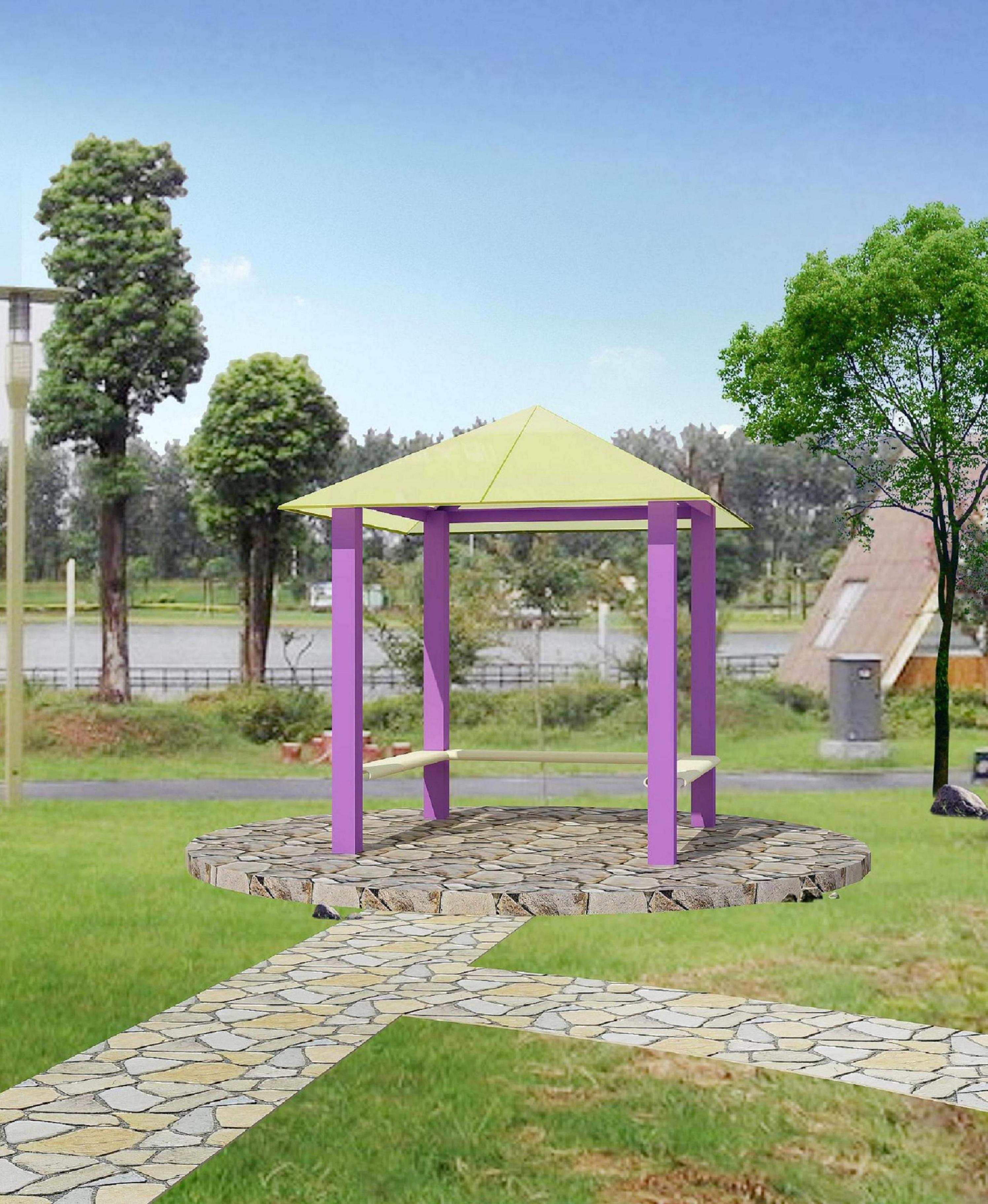 钢结构玻璃亭 现代景观亭 亭子