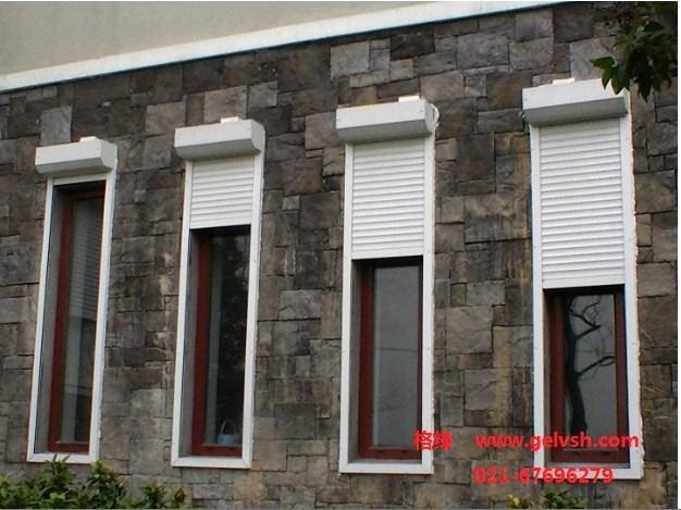 卷帘防盗窗;; 欧式卷帘窗 别墅电动卷帘窗 外遮阳防盗节能 双层铝合金