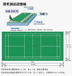 羽毛球PVC场地|羽毛球塑胶场地|运动场地