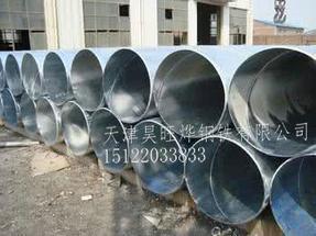 天津镀锌螺旋焊管