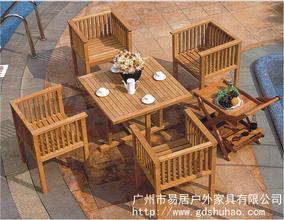 加工定制 成套实木桌椅 户外套椅 简约桌椅