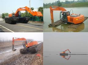 河道清淤水上挖掘机