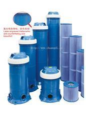 泳池设备 AQUA 爱克AF-100新款纸芯过滤器 聚脂纤维纸芯缸