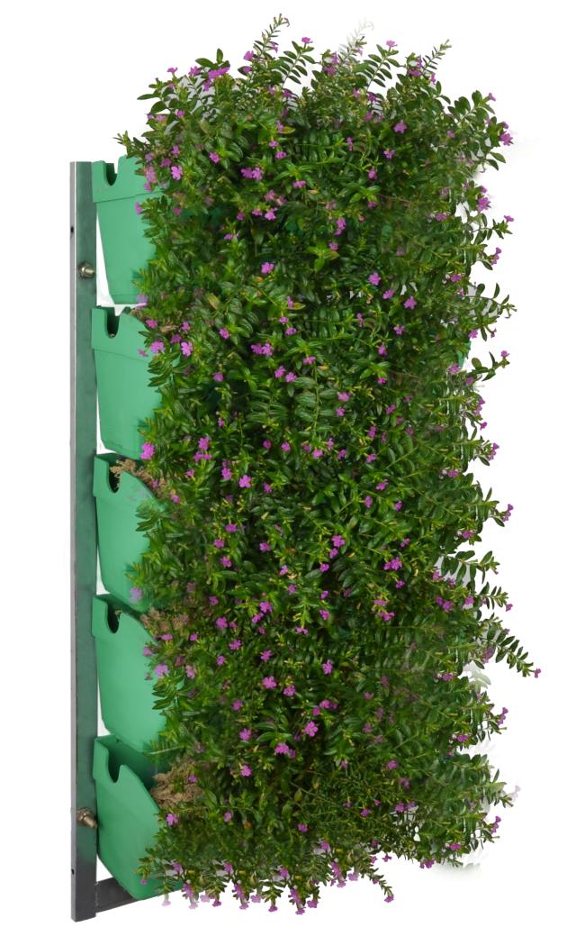 園藝綠化植物墻壁掛長方形花盆 塑料立體種植盆陽臺