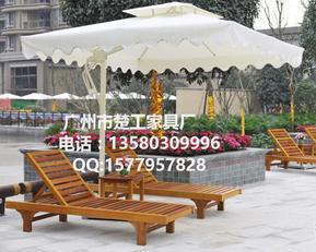 优质木质沙滩床 成品沙滩椅