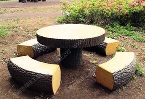 仿木,桌椅凳,圆形桌凳,休憩桌椅,园林设施