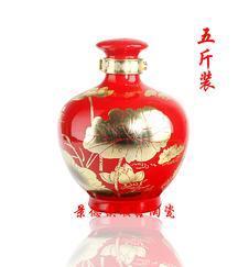 5斤装颜色釉高档陶瓷酒瓶