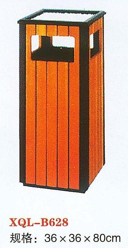 木结构垃圾桶,型号:xql-b628   产品规格:36*36*80cm     多用于街道