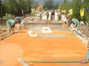 天水保护剂脱模粉路面铺装、透气路面