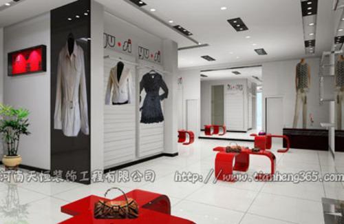 个性时尚郑州服装店装修,郑州服装店装修设计,专业装