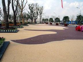 园林景观道路彩色透水混凝土地坪