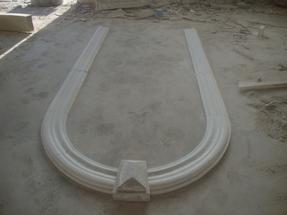 白色大理石雕刻门柱NG231