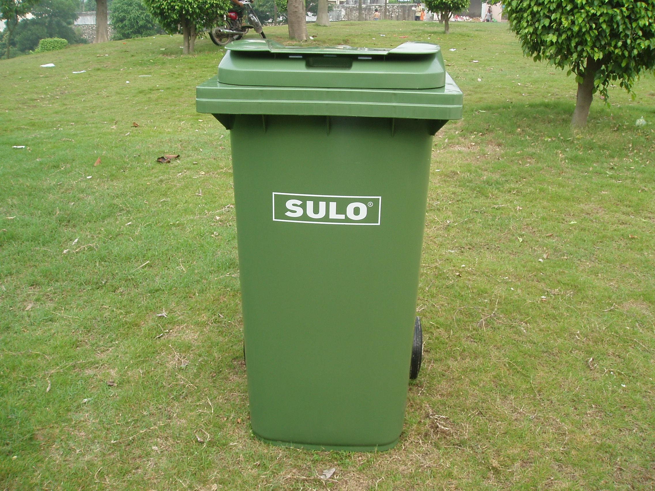 022a进口塑料移动垃圾桶240l