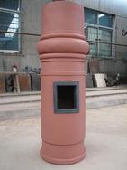 陶艺制品陶土成品烟囱|陶土烟囱