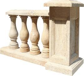 洞石栏杆柱MCS171