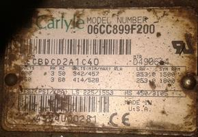 06CC899F200二手开利活塞压缩机