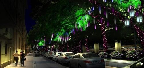 led流星管,3528贴片led流星雨灯,挂树灯
