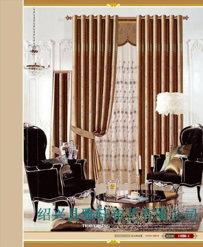 银丝绣花遮光布 客厅卧室窗帘布