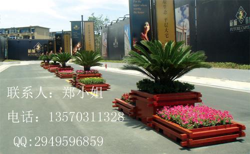 户外防腐花槽,步行街木花箱,天津广场摆放装饰防腐木