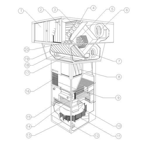 空调叶片执行结构图