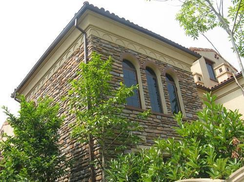 别墅屋檐排水专用铝合金k型天沟落水系统