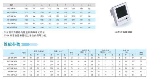 静电除尘式高效净化全热交换器 AHE-20W/DPJ(N)新风换气机