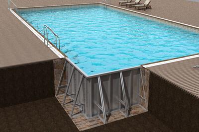 拆裝式游泳池的標準配置圖片