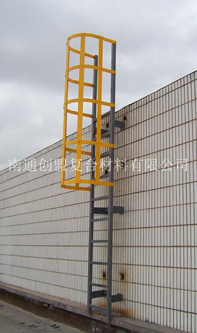 玻璃钢型材爬梯 玻璃钢笼梯