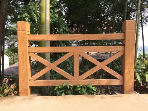 园林小品栏杆手绘