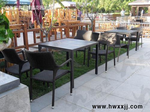 青岛室外咖啡厅桌椅厂家 露台桌椅 露天酒吧桌椅 商业街外摆桌椅 防水