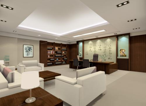 郑州中式办公室装修设计公司教你董事长办公室装修省钱小窍门 CO土